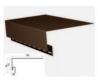 Приоконная планка (околооконный профиль) коричневый для сайдинга