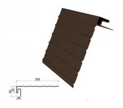 J-фаска ( ветровая, карнизная планка ) коричневая для винилового сайдинга от производителя Grand Line по цене 420.00 р