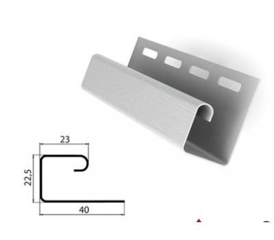 J-профиль (J-trim) белый для сайдинга от производителя Россия по 140 р