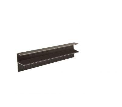 F-профиль адюминиевый, цвет коричневый, для торцов террасы и ступеней от производителя Sequoia по цене 1 500.00 р