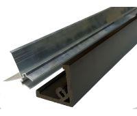 Стартовый профиль ДПК (не шлифованный) с алюминиевой направляющей