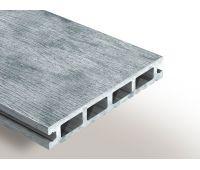 Террасная доска ДПК Select 146х22х4000 мм Бело-серый