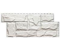 Фасадные панели (цокольный сайдинг) коллекция ЭКО-1 ГРАНИТ ЛЕОН - Белый