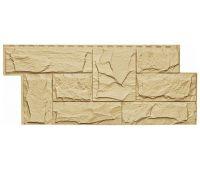 Фасадные панели (цокольный сайдинг) коллекция ЭКО-1 ГРАНИТ ЛЕОН - Желтый