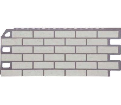 Фасадные панели (цокольный сайдинг) коллекция Кирпич - Мелованный белый от производителя Fineber по цене 485 р