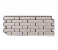 Фасадные панели (цокольный сайдинг) КОЛЛЕКЦИЯ «КИРПИЧ КЛИНКЕРНЫЙ» Белый