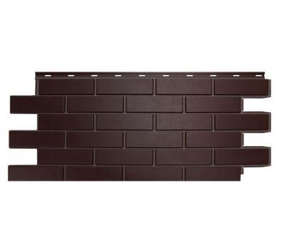 Цокольный сайдинг «Кирпич гладкий» Темно-коричневый от производителя NORDSIDE по 400 р