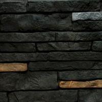 Цокольный сайдинг Stacked-Stone Premium (Природный камень Премиум) Shadow Ridge (Антрацит)
