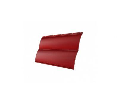 Металлический сайдинг Блок-хау 0,45 PE с пленкой RAL 3011 Коричнево-красный от производителя Grand Line по цене 452.00 р