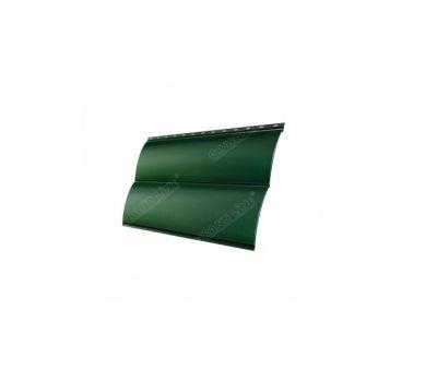 Металлический сайдинг Блок-хау 0,5 Atlas с пленкой RAL 6005 Зеленый мох от производителя Grand Line по цене 639.00 р