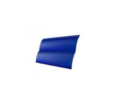 Металлический сайдинг Блок-хау 0,45 PE с пленкой RAL 5005 Сигнальный синий от производителя Grand Line по цене 398 р