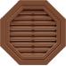 Восьмиугольная фронтонная вентиляционная решётка Коричневая от производителя Т-сайдинг по цене 2 750.00 р
