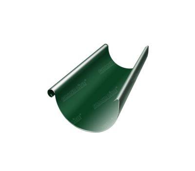 Водосточный желоб 3м Зеленый (RAL 6005) от производителя МеталлПрофиль по цене 680 р