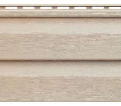 Виниловый сайдинг Аляска Люкс, Беж от производителя Альта-профиль по цене 156.15 р