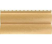 Виниловый сайдинг Blockhouse (Блокхаус - под бревно), двухпереломный, Золотистый