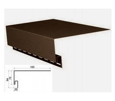 Приоконная планка (околооконный профиль) коричневый для сайдинга от производителя Grand Line по цене 450.00 р