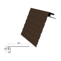 J-фаска ( ветровая, карнизная планка ) коричневая для винилового сайдинга