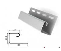 J-профиль (J-trim) белый для сайдинга