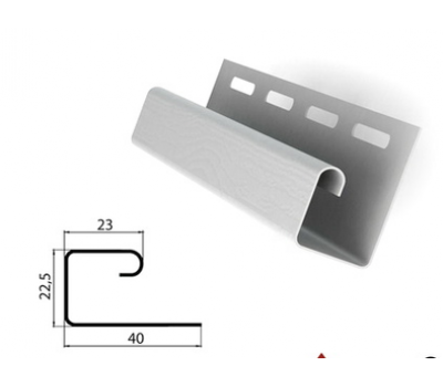J-профиль (J-trim) белый для сайдинга от производителя Grand Line по цене 140.00 р