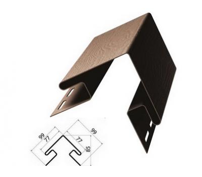 Внешний (наружный) угол коричневый для винилового сайдинга от производителя Grand Line по цене 840.00 р