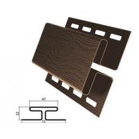 H-профиль (соеденительная планка) коричневый для винилового сайдинга , 3,05м