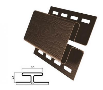 H-профиль (соеденительная планка) коричневый для винилового сайдинга , 3,05м от производителя Grand Line по цене 480.00 р
