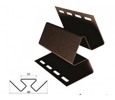 Внутренний угол коричневый для винилового сайдинга от производителя Grand Line по цене 430.00 р