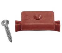Кклипса с саморезом пластиковая, шовный монтаж Красный