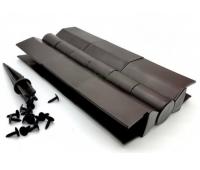 Угол поворотный от 60°  до 180°  пластик для доски 225х25-30 из ДПК Чёрный