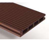 Террасная доска ДПК Select 146х22х4000 мм Темно-коричневый