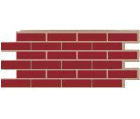 Фасадные панели (цокольный сайдинг) коллекция кирпич Модерн - Красный
