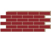 Фасадные панели (цокольный сайдинг) коллекция кирпич Модерн - Бордо