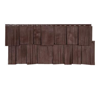 Фасадные панели (цокольный сайдинг) коллекция ЭКО-1 ЩЕПА ДУБ - Браун от производителя Т-сайдинг по цене 349.00 р