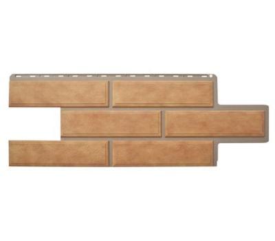 Фасадные панели (цокольный сайдинг) КОЛЛЕКЦИЯ «Венецианский камень» Бежевый от производителя Альта-профиль по цене 374.00 р