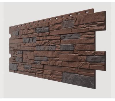 Фасадные панели (цокольный сайдинг) , Stein (песчаник), Dunkelstein Tемный орех от производителя Docke по цене 454.99 р