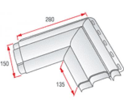Угловой элемент наличника Классик от производителя Альта-профиль по цене 170.00 р