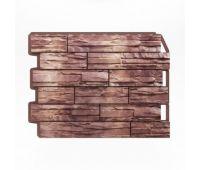 Фасадные панели (цокольный сайдинг) Скол коричневый