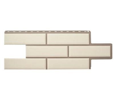Фасадные панели (цокольный сайдинг) КОЛЛЕКЦИЯ «Венецианский камень» Белый от производителя Альта-профиль по цене 468.00 р