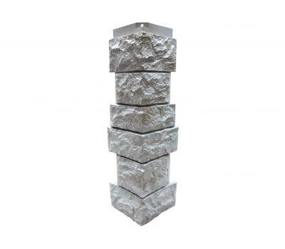Угол наружный Цокольный сайдинг «Камень северный» Серый от производителя NORDSIDE по цене 399.00 р