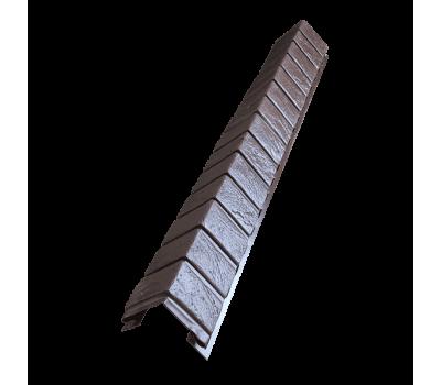 Угол наружный для цокольного сайдинга Кирпич Славянка Корица от производителя Доломит по цене 570.00 р