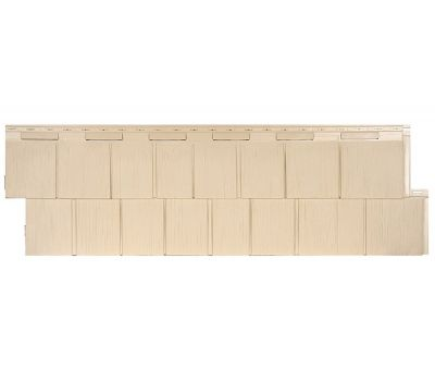 Фасадные панели (цокольный сайдинг) коллекция Щепа Пихта ЭКО-1 - Амбер от производителя Т-сайдинг по цене 414.00 р