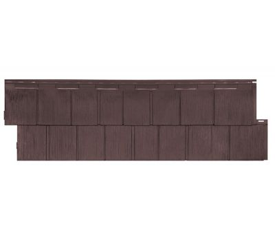 Фасадные панели (цокольный сайдинг) коллекция Щепа Пихта ЭКО-1 - Браун от производителя Т-сайдинг по цене 414.00 р