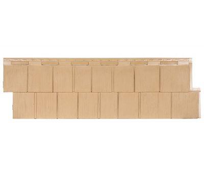 Фасадные панели (цокольный сайдинг) коллекция Щепа Пихта ЭКО-1 - Кремовый от производителя Т-сайдинг по цене 414.00 р