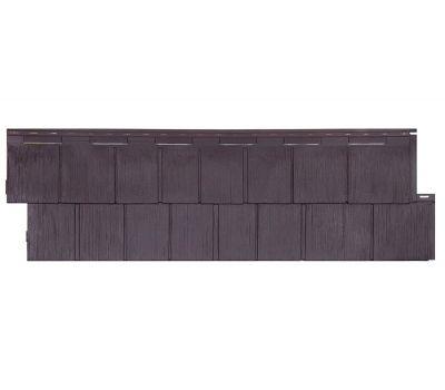 Фасадные панели (цокольный сайдинг) коллекция Щепа Пихта ЭКО-2 - Венге от производителя Т-сайдинг по цене 534.00 р