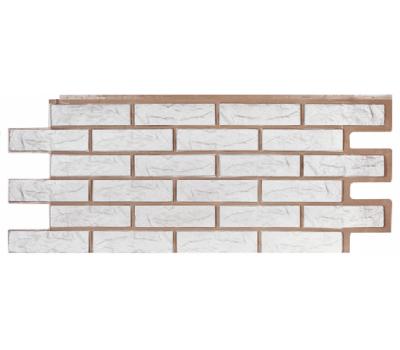 Фасадные панели (цокольный сайдинг) коллекция Лондон Брик Кирпич - Белый от производителя Т-сайдинг по цене 384.00 р