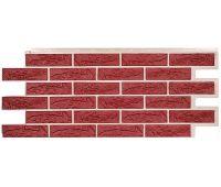 Фасадные панели (цокольный сайдинг) коллекция Лондон Брик Кирпич - Красный