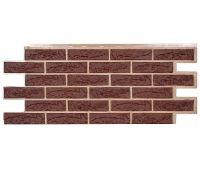Фасадные панели (цокольный сайдинг) коллекция Лондон Брик Кирпич - Коричневый