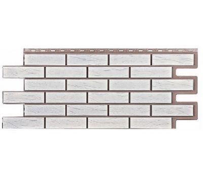 Фасадные панели (цокольный сайдинг) коллекция кирпич Саман - Белый от производителя Т-сайдинг по цене 534.00 р