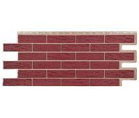 Фасадные панели (цокольный сайдинг) коллекция кирпич Саман - Красный