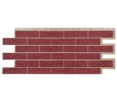 Фасадные панели (цокольный сайдинг) коллекция кирпич Саман - Красный от производителя Т-сайдинг по цене 534.00 р